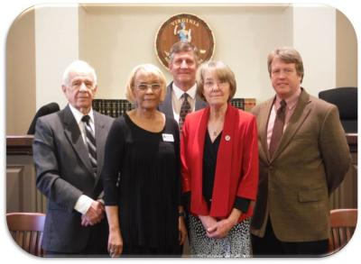 BOS FRONT (L-R): Mozell Booker (Vice Chair), Patricia Eager REAR (L-R): Don Weaver, Mike Sheridan (Chair), Tony O'Brien