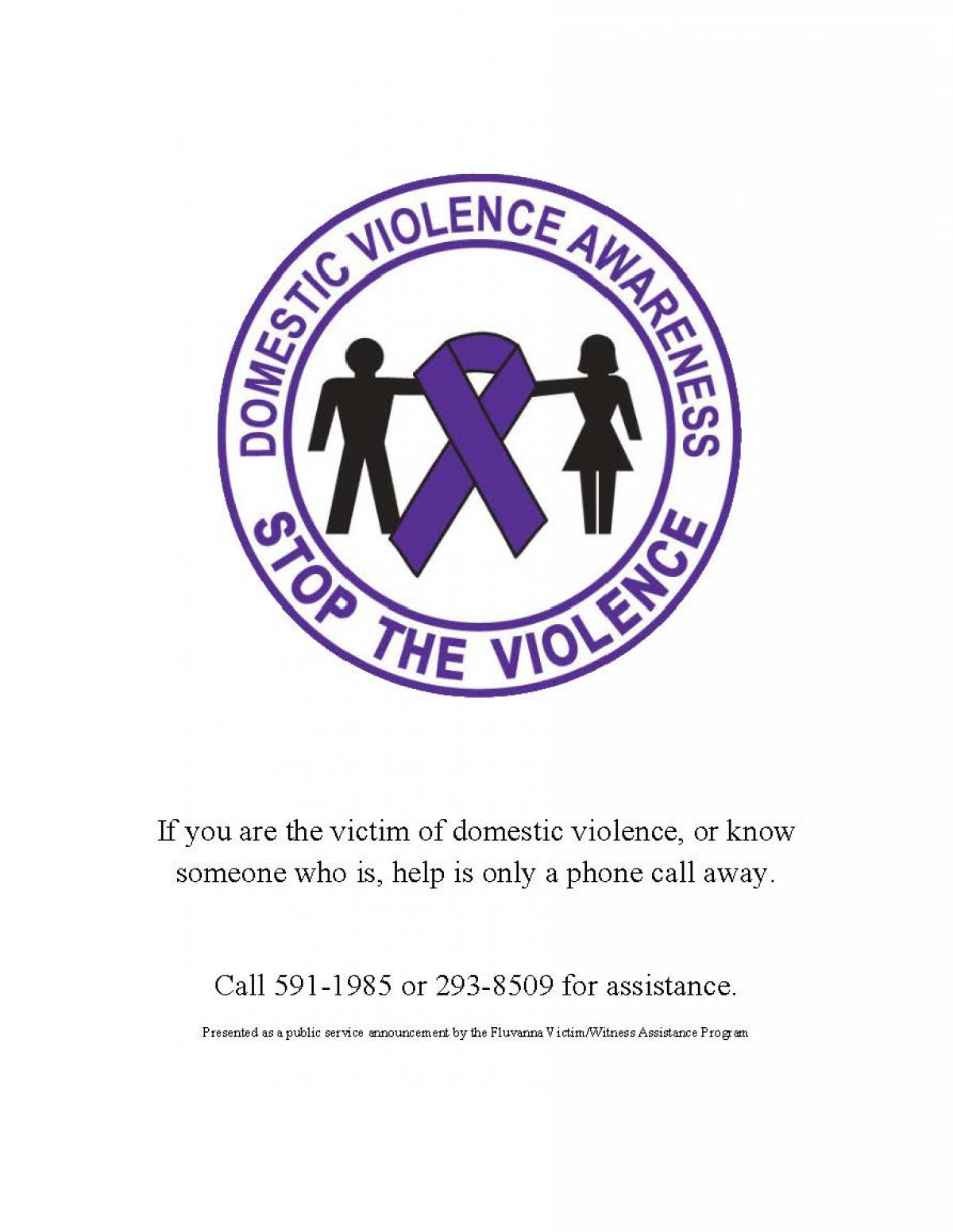 October Is Domestic Violence Awareness Month Fluvanna County